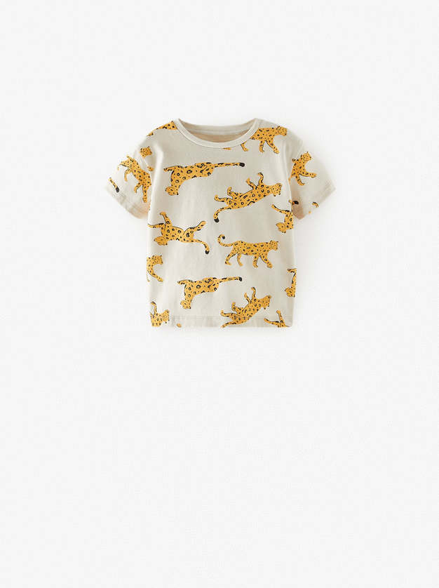 Zara Baby Boy AOP Leopards