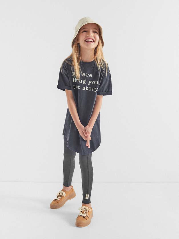 Zara Girl Text T-shirt