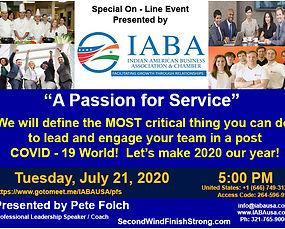 IABA. Virtual Event - Passion For Servic