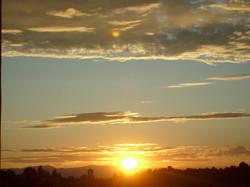 Coucher soleil vue des gites