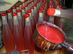 Cire des bouteilles