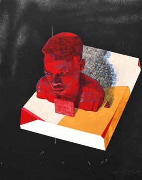 Untitled head on block