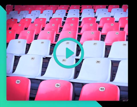 Seating nummererede pladser video events