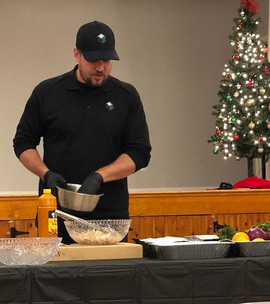 Healthy cooking demo last night. Thanks
