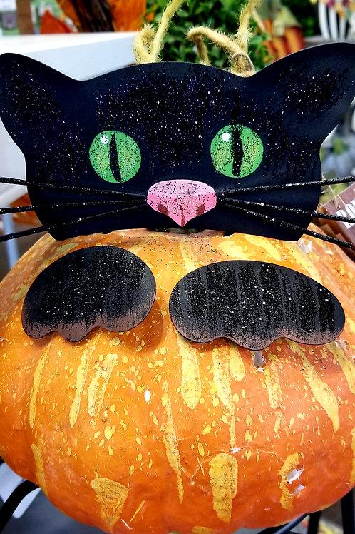 Peeking Cat Pumpkin Parts