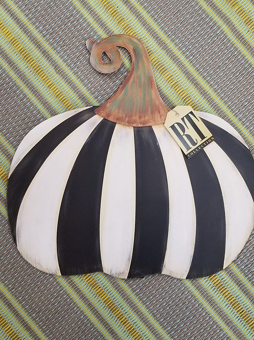 Short Striped Metal Pumpkin BLK & White -Large