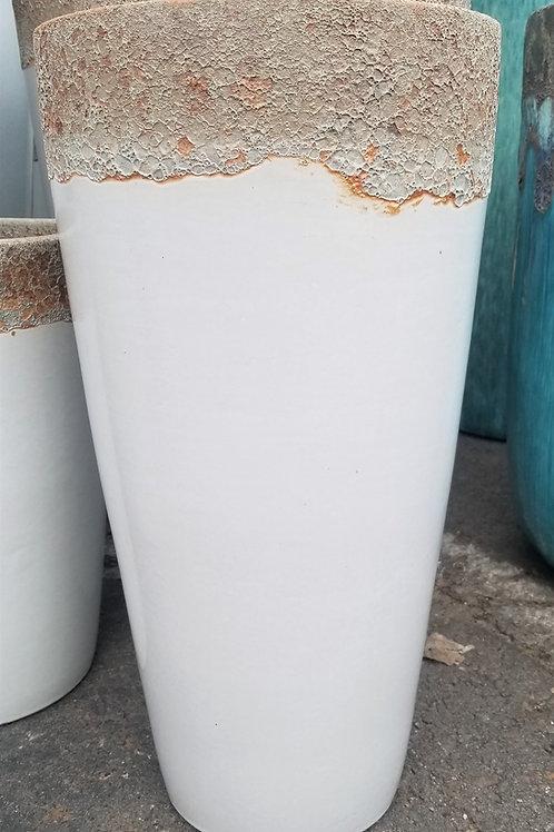 "Volcanic Drip Tall Round 37.4"" Ceramic Pot"