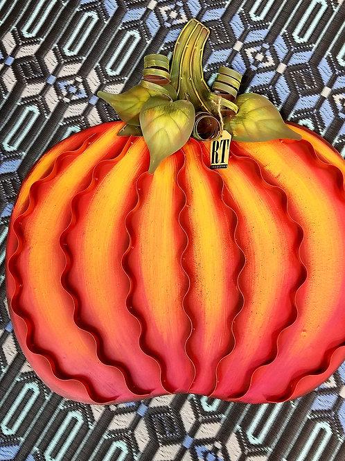 Metal Pumpkin Yard Stake Large