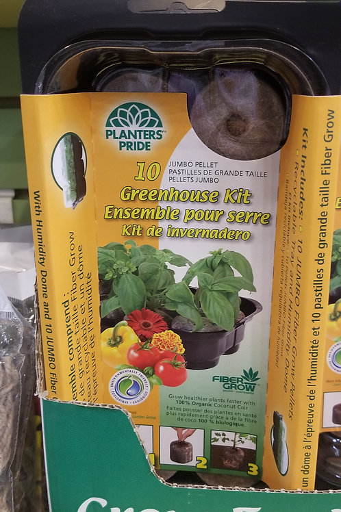 Greenhouse Kit/Seed Starter Fiber Grow 10 Count