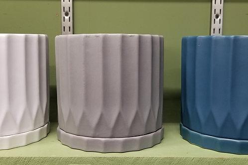 "Indoor Ceramic Pottery 5 3/4"" Dia W/Saucer"