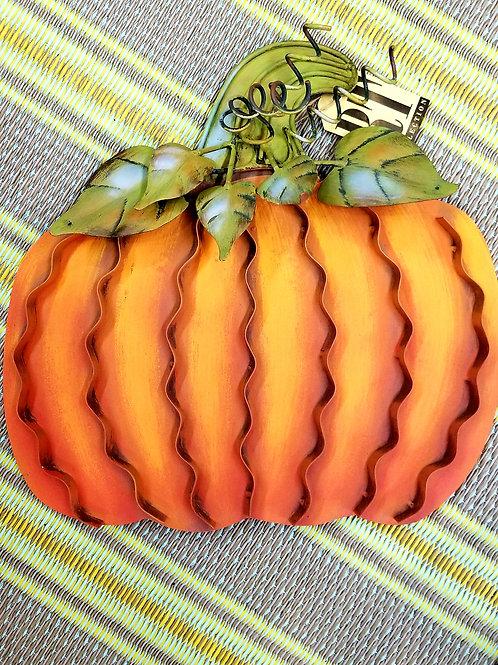 Metal Round Pumpkin Stake - Small