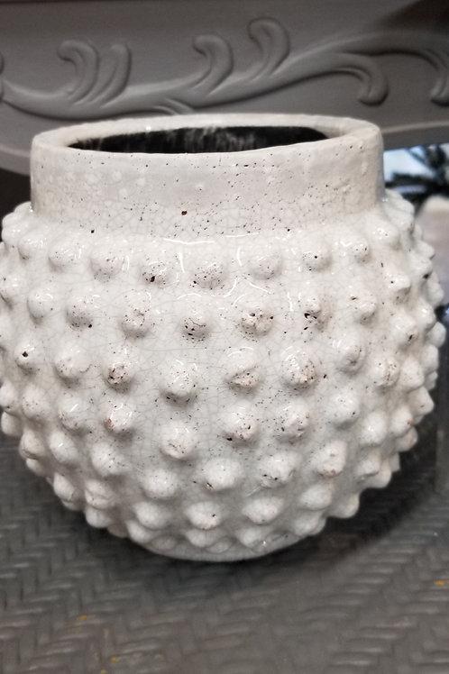 """White Texture Pot 8.75"""""""