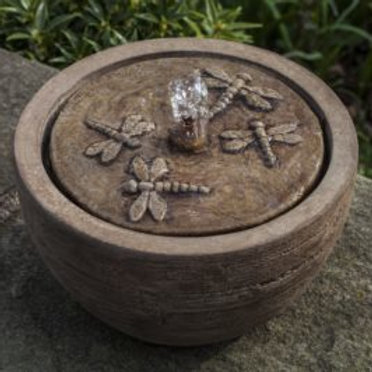 Dragonfly Table Top Fountain- Concrete
