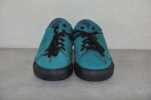 Sneaker, zwarte zool, green