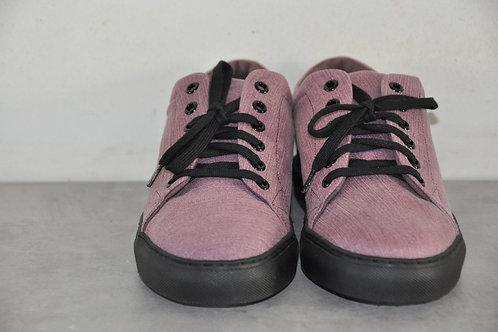 Sneaker, zwarte zool, purple