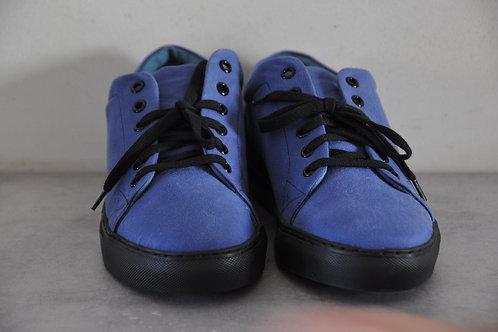 Sneaker, zwarte zool, blue