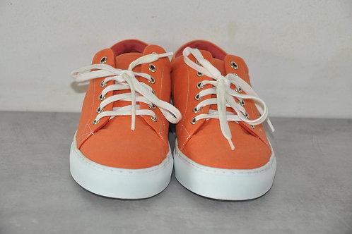 Sneaker, witte zool, peach