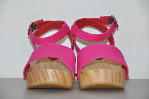 Low Heels, Straight, Fuchsia