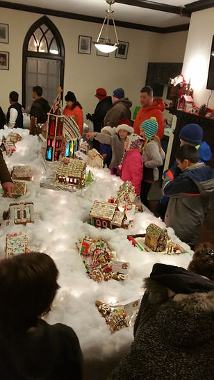 Our gingerbread village kicks off the holiday season in Nashua, NH