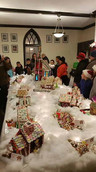 Visitors view our Gingerbread Village
