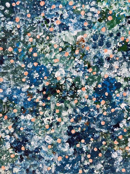 Deep blue meadow