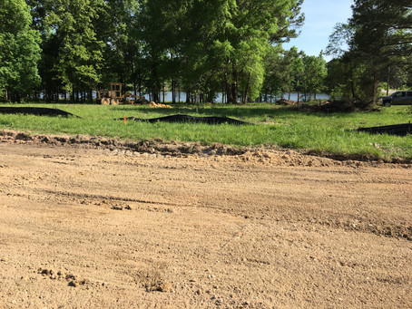 Starting Road Work at Canoe Harbor on Neely Henry Lake