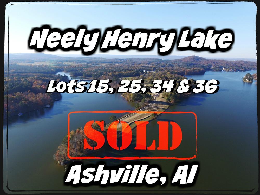 Lake lots sold.