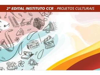Instituto CCR lança o 2º Edital para projetos culturais