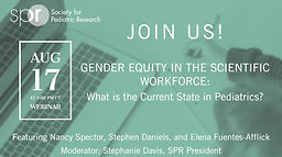 Gender Equity in the Scientific Workforce: What is the Current State in Pediatrics?