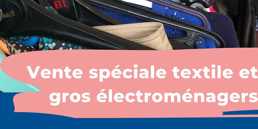 Vente spéciale textile et gros électroménagers
