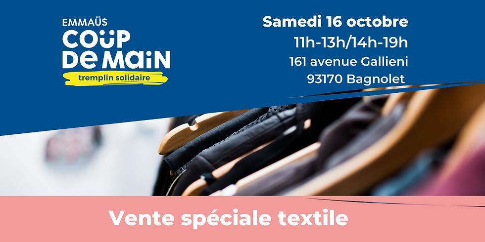 Vente spéciale textile