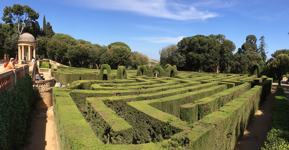 The labyrinth in a park in Barcelona, Spain