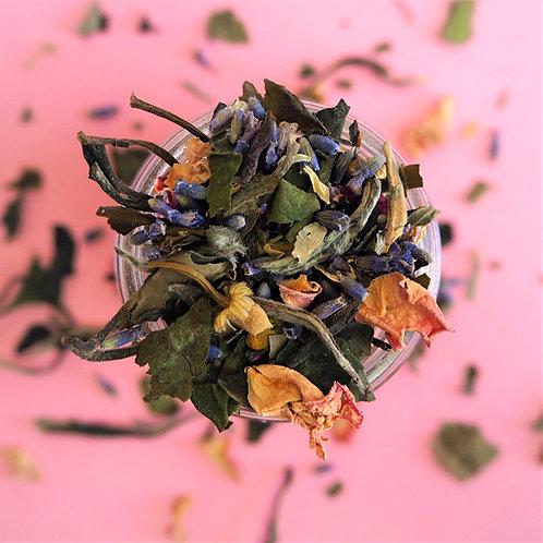 tease me organic premium white tea lavender chamomile camomile rose petals wellness