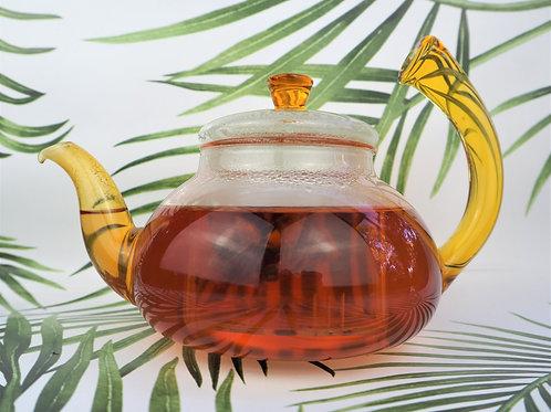 Yellow Glass Teapot