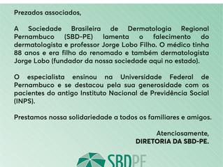 Nota de Pesar - Professor Jorge Lobo