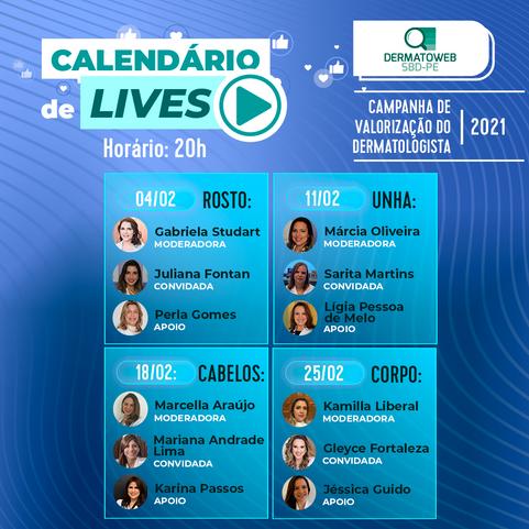 CALENDÁRIO DE LIVES