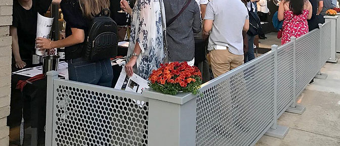 Removable outdoor crowd control dividers