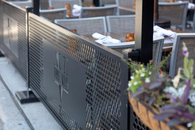 metal removable sidewalk barriers