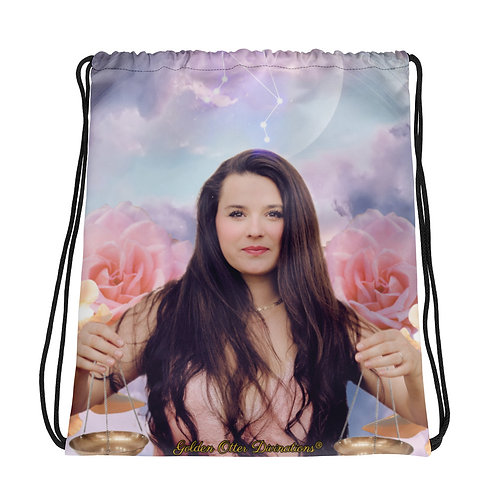 Libra New Moon Drawstring Bag