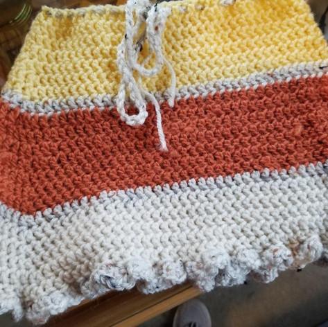 51. Hand-Crocheted Baby Poncho