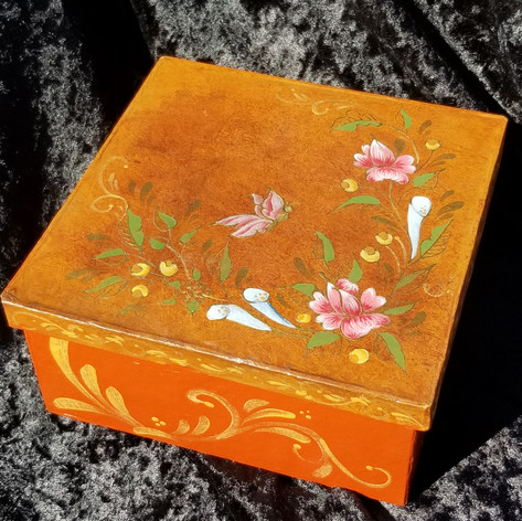 5. Hand-Painted Paper Box