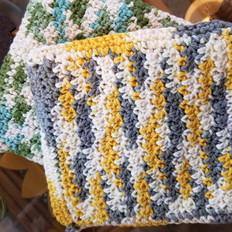 35. Hand-Crocheted Pot Holders- Set of 2