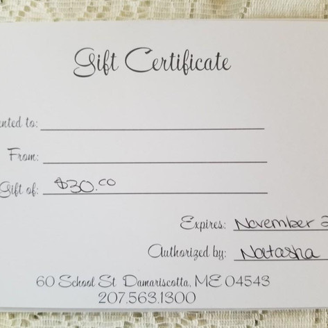 31. Gift Certificate to Bangz