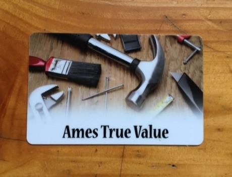38. Ames True Value Gift Certificate