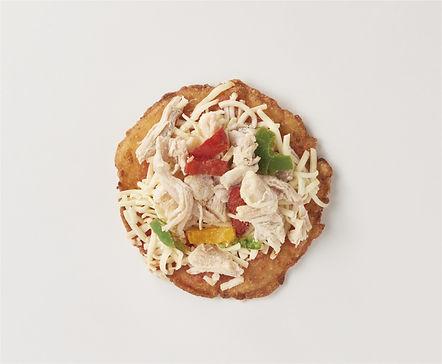 ヘルシーチキンのピザ