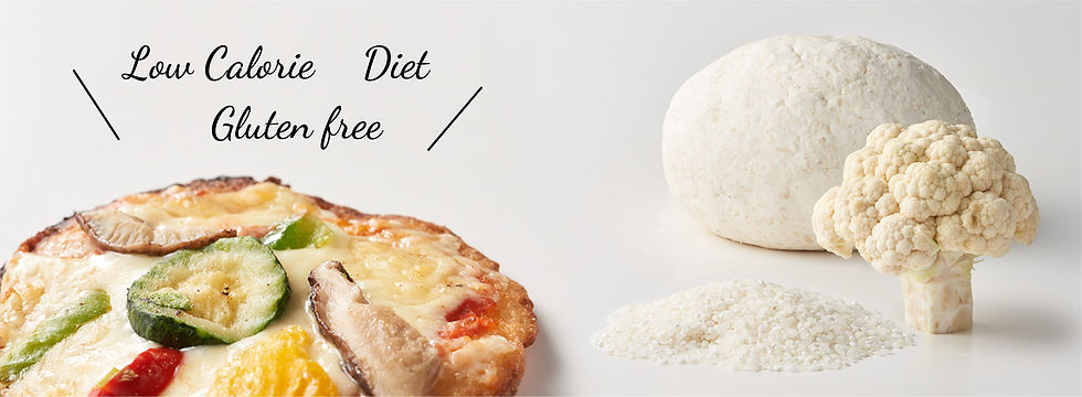 カリフラワーと米粉の生地