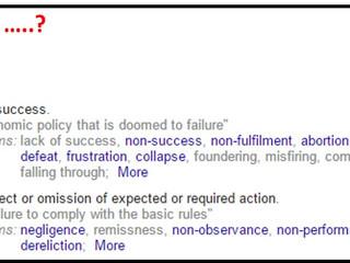 Failure....?