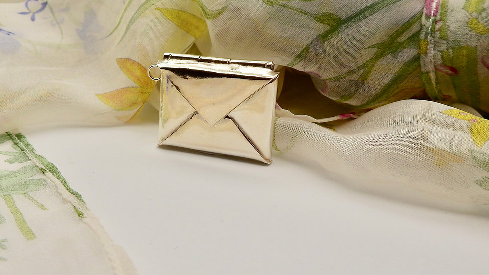 Silver Envelope with Silver Letter