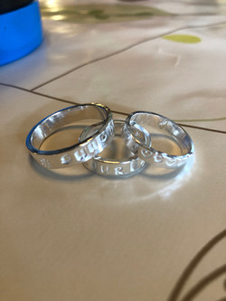 Finished rings atChris Lewis Jewellery Design