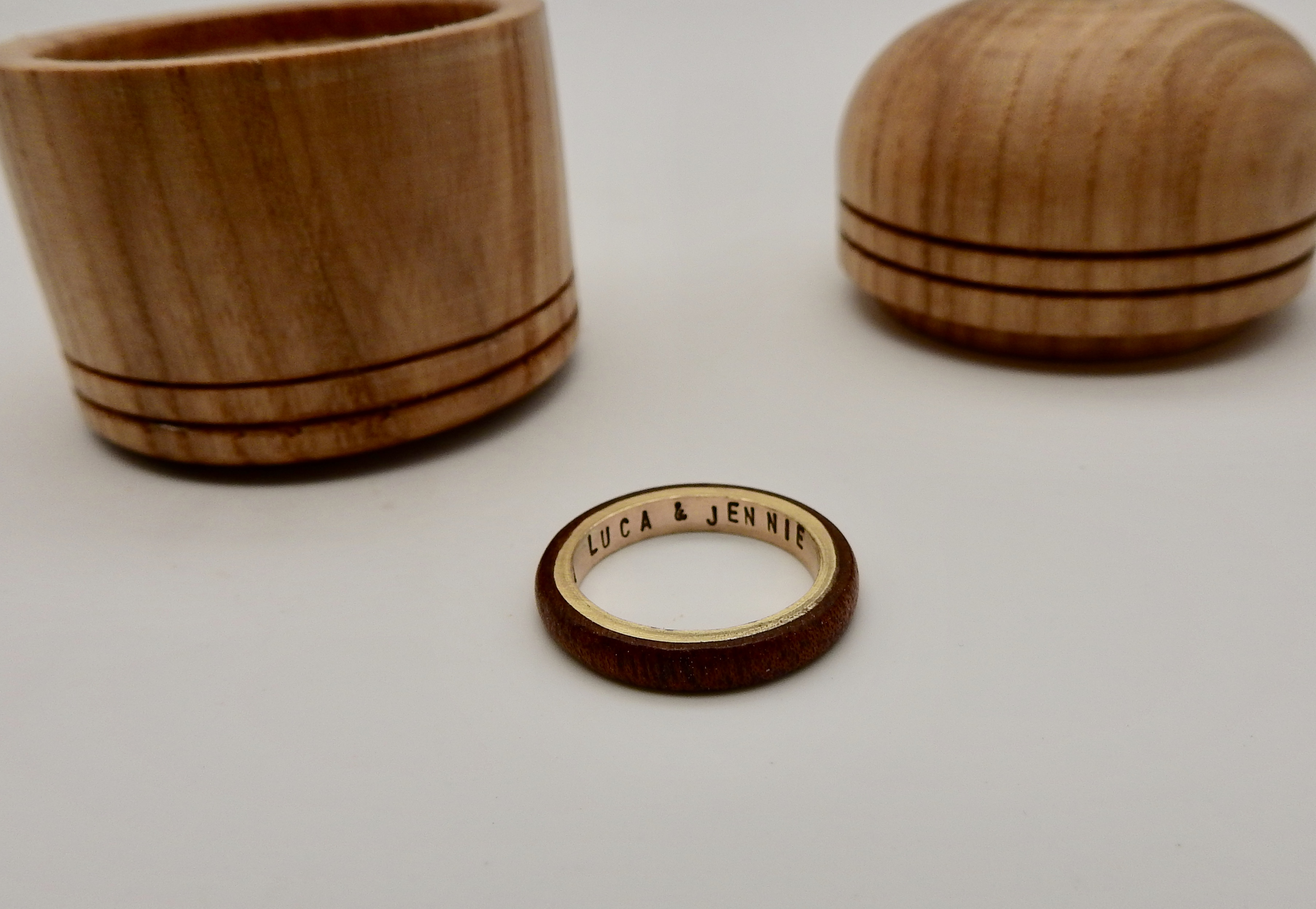 Mahogany & Gold Ring